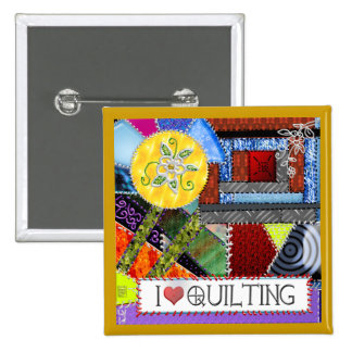 crazy quilt 2 inch square button