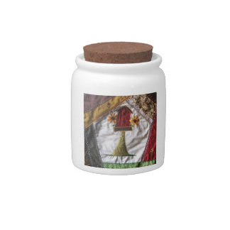 Crazy Quilt Birdhouse Candy Jars