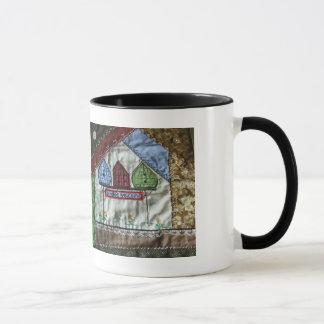 Crazy Quilt Birdhouse Coffee Mug