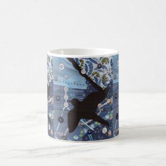 Crazy Quilt Black Bird Coffee Mug
