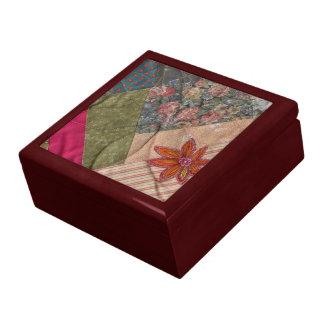 crazy quilt box trinket box