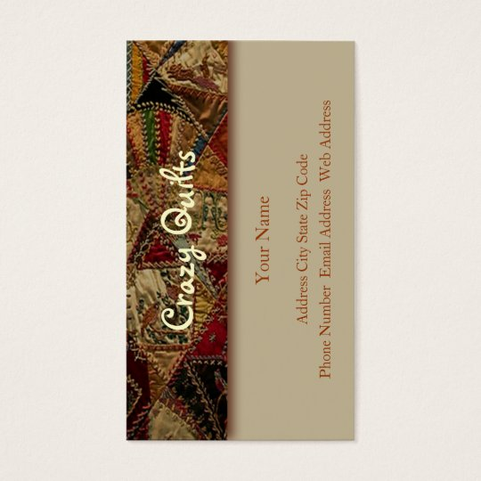 Crazy Quilt Business Card