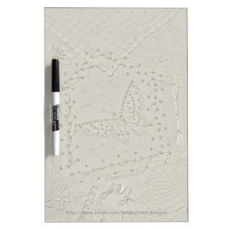 Crazy Quilt Embroidered Design Dry Erase Board