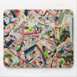 Crazy Quilt in Spring Colors Mouse Pad