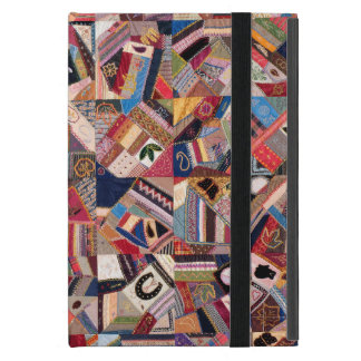 Crazy Quilt Patchwork-Look Cover For iPad Mini