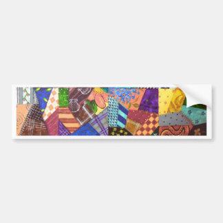 Crazy Quilt Patchwork Quilt Abstract Art Geometric Bumper Sticker