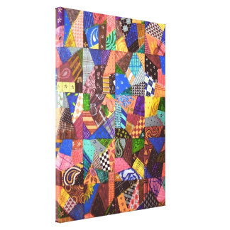Crazy Quilt Patchwork Quilt Abstract Art Geometric Canvas Print