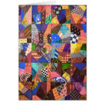 Crazy Quilt Patchwork Quilt Abstract Art Geometric Greeting Card