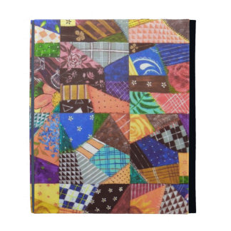 Crazy Quilt Patchwork Quilt Abstract Art Geometric iPad Cases