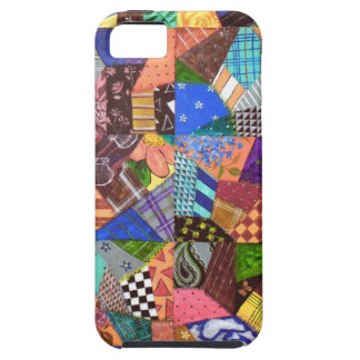 Crazy Quilt Patchwork Quilt Abstract Art Geometric iPhone SE/5/5s Case