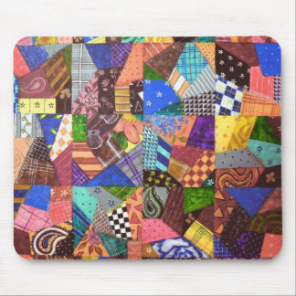 Crazy Quilt Patchwork Quilt Abstract Art Geometric Mouse Pad