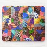 Crazy Quilt Patchwork Quilt Abstract Art Geometric Mousepads