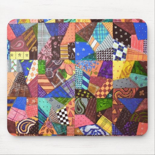 Crazy Quilt Patchwork Quilt Abstract Art Geometric Mousepads