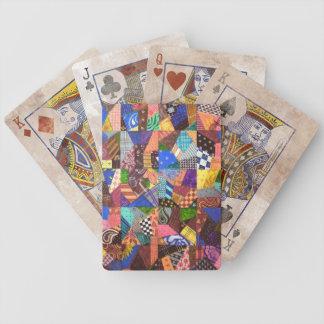 Crazy Quilt Patchwork Quilt Abstract Art Geometric Card Decks