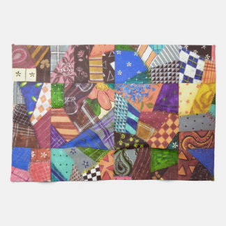 Crazy Quilt Patchwork Quilt Abstract Art Geometric Towel