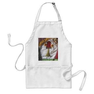 Crazy quilt pattern birhouse adult apron