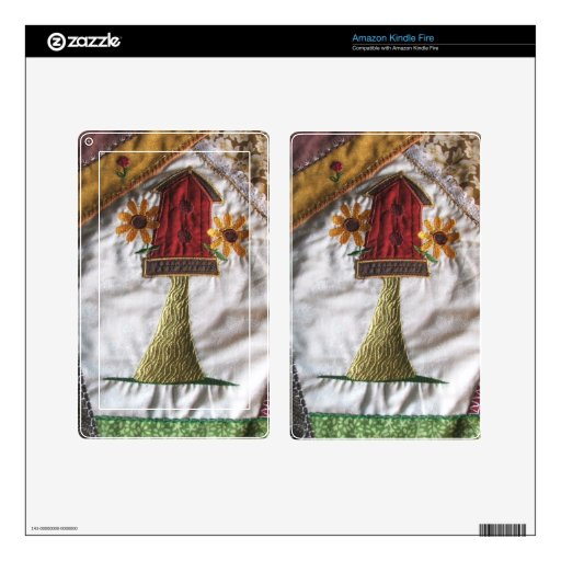 Crazy quilt pattern birhouse skins for kindle fire