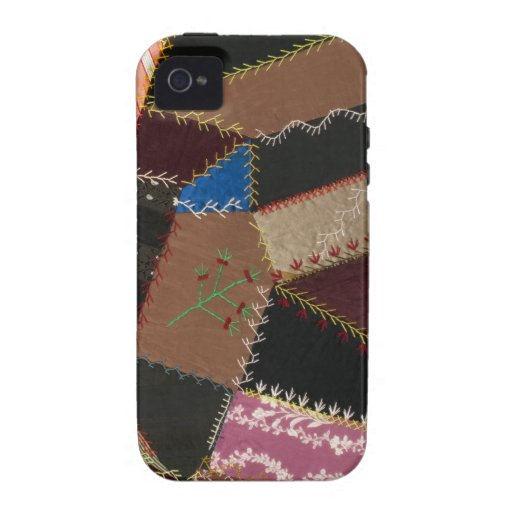 Crazy quilt upholstery, 1795-1815 case for the iPhone 4