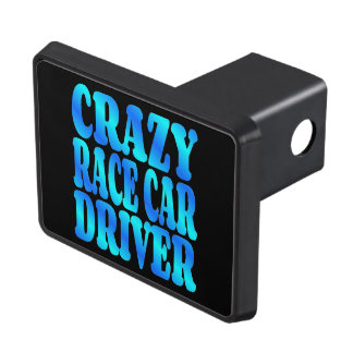 Crazy Race Car Driver Tow Hitch Cover