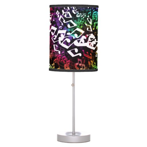 Crazy Rainbow Music Notes Table Lamp Zazzle