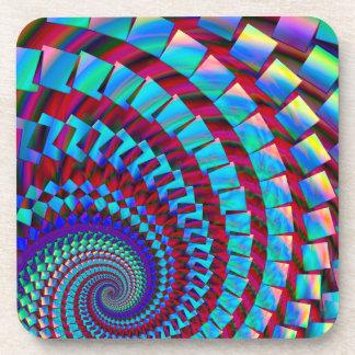Crazy Rainbow Spiral Beverage Coaster