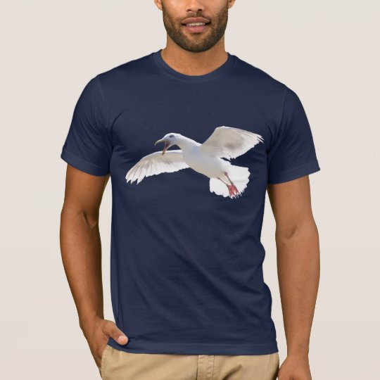 Crazy Raucous Glaucous Sea-Gull Fun Bird T-Shirt