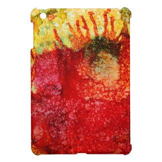 Crazy red flower iPad mini cases