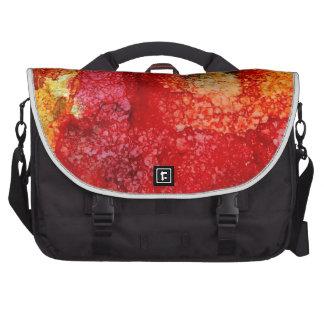 Crazy red flower commuter bag