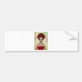 Crazy Red Hair Morning Bumper Sticker