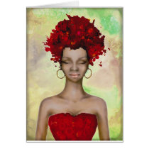 Crazy Red Hair Morning Card