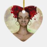Crazy Red Hair Morning Ceramic Ornament