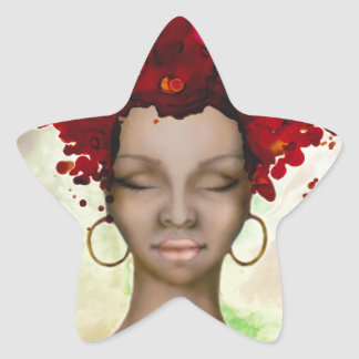 Crazy Red Hair Morning Star Sticker