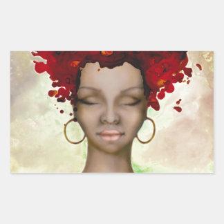 Crazy Red Hair Morning Rectangular Stickers