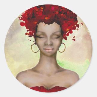Crazy Red Hair Morning Round Sticker