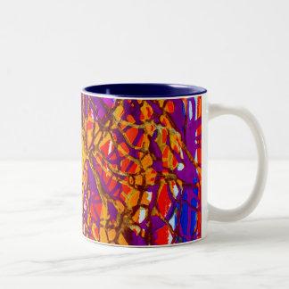 crazy red mug