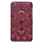 Crazy Red & Purple Valentines Fractal Barely There iPod Covers