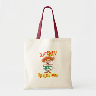 Crazy Redhead with funny saying Bags