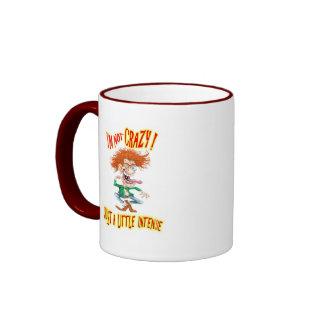Crazy Redhead with funny saying Ringer Coffee Mug