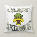 Crazy Redneck Duck Head Camo Pillow