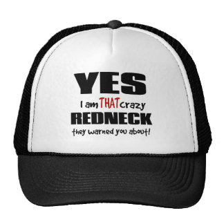 Crazy Redneck Trucker Hat