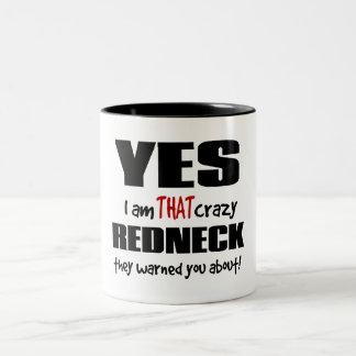 Crazy Redneck Two-Tone Coffee Mug