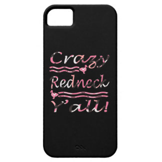 Crazy Redneck Yall Pink Camouflage iPhone 5 Cases