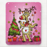 CRAZY REINDEER MOUSE PAD