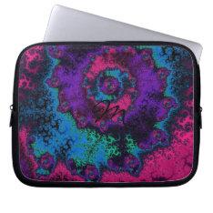 Crazy Retro Fractal Flower Laptop Sleeve