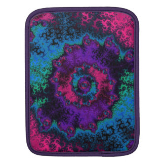Crazy Retro Fractal Flower Sleeves For iPads