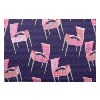 Crazy Retro Record Player Pattern Placemat