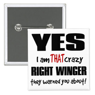 Crazy Right Winger Button