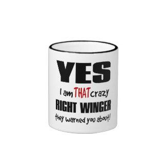 Crazy Right Winger Ringer Mug
