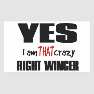 Crazy Right Winger Stickers