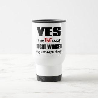 Crazy Right Winger Travel Mug